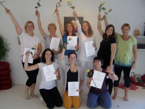 Abschluss / Prüfung Yogalehrer Grundausbildung 2014