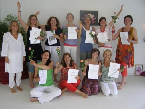 Abschluss / Prüfung Yogalehrer-Grundausbildung 2015
